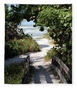 Way To The Beach Fleece Blanket