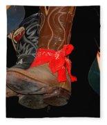 Waylon Jennings Boots Fleece Blanket