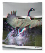 We Have Liftoff - Use Red-cyan 3d Glasses Fleece Blanket