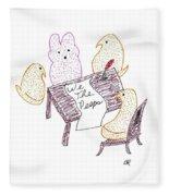 We The Peeps Fleece Blanket