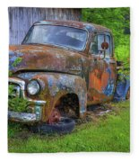 Wears Valley 1954 Gmc Wears Valley Tennessee Art Fleece Blanket