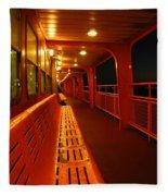 Weather Deck Starboard Side Night Fleece Blanket