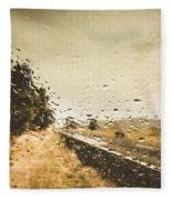 Weather Roads Fleece Blanket