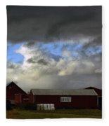 Weather Threatening The Farm Fleece Blanket