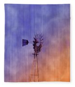 Weather Vane Sunset Fleece Blanket