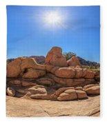 Weather Worn Rock Bowl Fleece Blanket