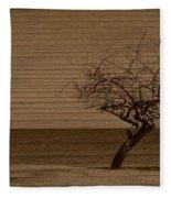 Weatherd Beach Tree Fleece Blanket