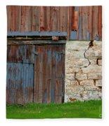 Weathered Barn Door Fleece Blanket