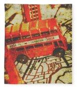 Weathered Bus Routes Fleece Blanket