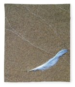 Weathered Feather  Fleece Blanket