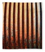 Weathered Metal With Rows Fleece Blanket
