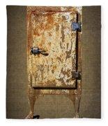 Weathered Rusty Refrigerator Fleece Blanket