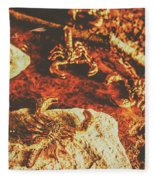 Weathered Scorpion Art Fleece Blanket