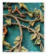 Weathered Wall Art Fleece Blanket
