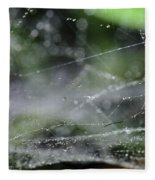 Web After Rain 2 Fleece Blanket