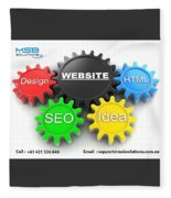 Web Design And Development Company In Adelaide  Fleece Blanket