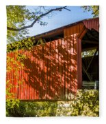 Webster/dick Huffman Covered Bridgesw Of Putnamville, Washingto Fleece Blanket