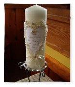 Wedding Candle  Fleece Blanket
