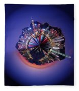 Wee Hong Kong Planet Fleece Blanket
