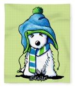 Wee Winter Westie Fleece Blanket