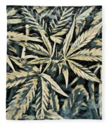 Weed Abstracts Four Fleece Blanket