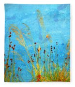 Weeds And Water Fleece Blanket