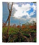 Weeks Bay Swamp Fleece Blanket