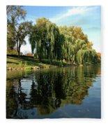 Weepin Willows Frankenmuth Cass River Fleece Blanket