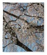 Weeping Cherry In Spring Fleece Blanket