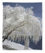 Weeping Willow In Infrared Fleece Blanket