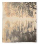Weeping Willow Woman Fleece Blanket