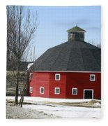 Welch Round Barn Fleece Blanket
