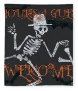 Welcome Ghoulish Guests Fleece Blanket
