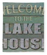Welcome Lake House Fleece Blanket