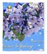 Welcome Spring Fleece Blanket