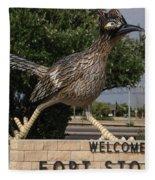 Welcome To Fort Stockton Fleece Blanket