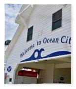 Welcome To Ocean City Maryland Fleece Blanket