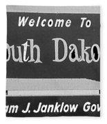 Welcome To South Dakota  Fleece Blanket