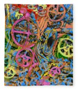 Welcome To The Machine Pink Orange Fleece Blanket