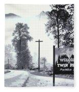 Welcome To Twin Peaks Fleece Blanket
