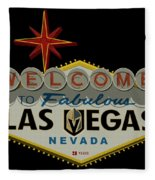 Welcome To Vegas Knights Sign Digital Drawing Fleece Blanket