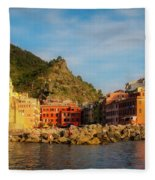 Welcome To Vernazza Fleece Blanket