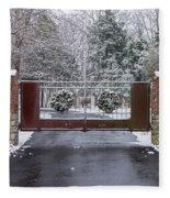 Welcome To Winter Fleece Blanket