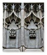 Wellesley College Tower Court Detail Fleece Blanket
