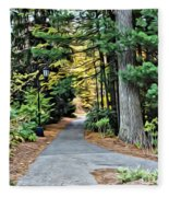Wellesley College Walkway Fleece Blanket