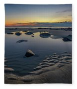 Wells Beach Solitude Fleece Blanket