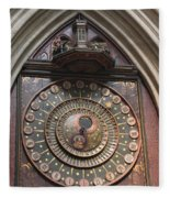 Wells Cathedral Astronomical Clock Fleece Blanket