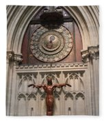 Wells Cathedral Geocentric Clock Fleece Blanket