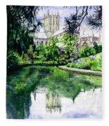 Wells Cathedral Fleece Blanket