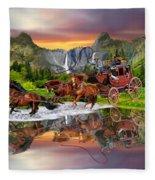 Wells Fargo Stagecoach Fleece Blanket